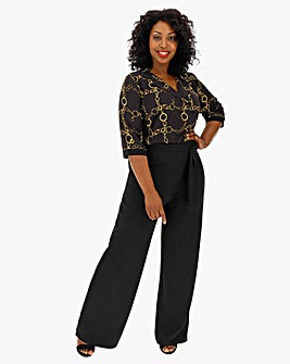 Quiz Chain Print Jumpsuit