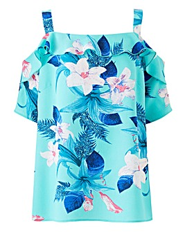 Quiz Bardot Tropical Top