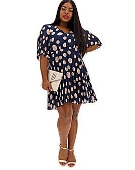 Lovedrobe Spot Angel Sleeve Dress