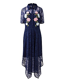Lovedrobe Ornate Flower Embroidered Lace Dress