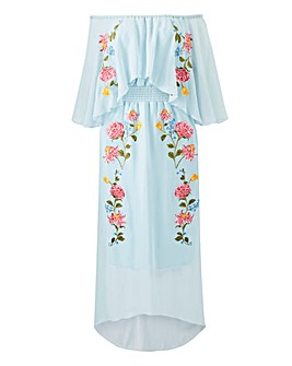 Lovedrobe Embroidered Bardot Dress