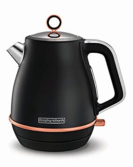 Morphy Richards 104414 Evoke Jug Black Rose Gold Kettle