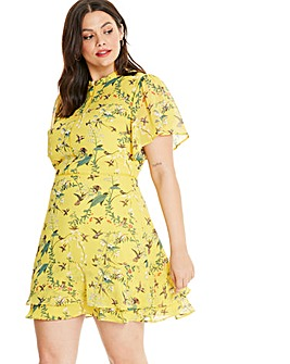 Oasis Curve Mellow Meadow Chiffon Dress