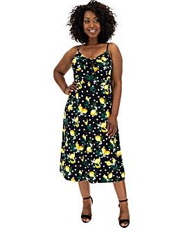Oasis Curve Lemon Print Dress