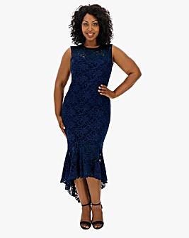 Quiz Lace Fishtail Dress