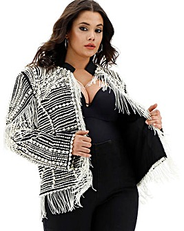 A Star Is Born Pearl Embellished Jacket