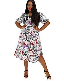 1598100201b Neon Rose Mix And Match Tea Dress