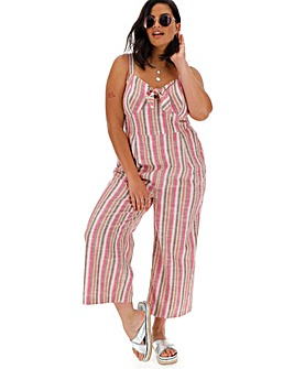 Neon Rose Rainbow StripeJumpsuit