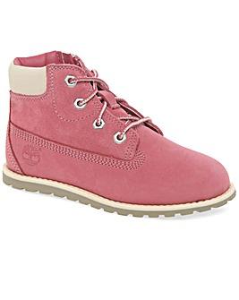 Timberland Pokey Pine Pink Nubuck Boots