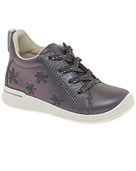 Ecco Daisy Girls Floral Leather Boots