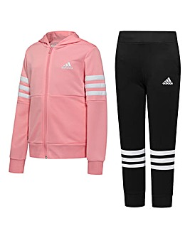 adidas Younger Girls Hooded Tracksuit