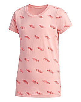 adidas Younger Girls AOP T-Shirt