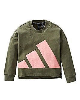adidas Girls Crew Neck Sweat
