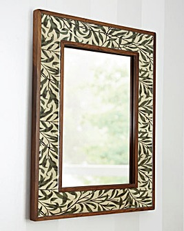 Mirror with Floral Print
