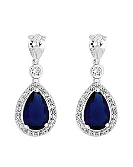 Jon Richard Pear Sapphire Drop Earring