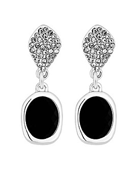 Jon Richard Crystal Black Drop Earring