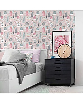 Pink Clip Frames W/Paper