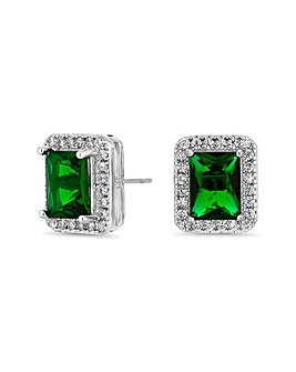 Jon Richard Emerald Perfume Drop Earring