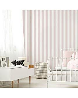 Pink Vintage Striped W/Paper