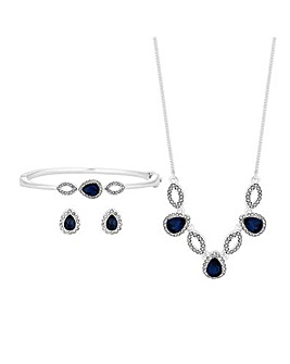 Crystal Pear And Crystal Pave Set