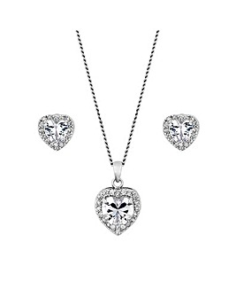 Alan Hannah Devoted Heart Pendant Set