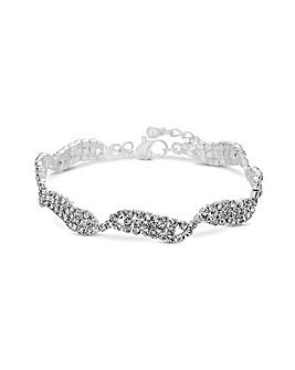 Jon Richard Crystal Allway Wave Bracelet