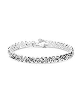 Silver Plated Crystal Diamante Bracelet