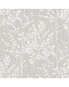 Diamond Fern Silver Wallpaper