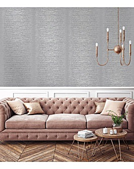 Superfresco Easy Sloane Stripe Textured Grey Wallpaper