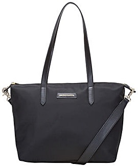 Smith & Canova Nylon Zip Top Tote Bag