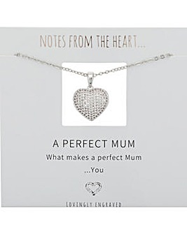A Perfect Mum Heart Pendant