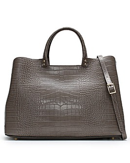 Daniel Mintley Moc Croc Leather Tote Bag