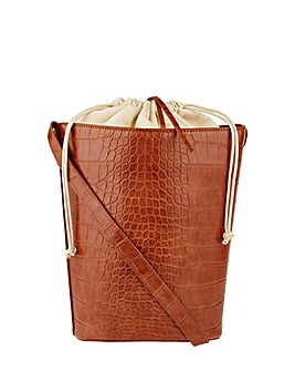 Monsoon Claris Croc Bucket Bag