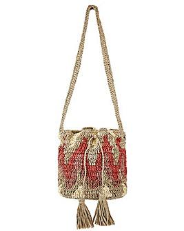 Monsoon Carla Chevron Crochet Duffle Bag
