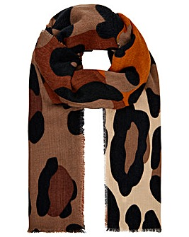Monsoon Maya Mid Weight Leopard Scarf