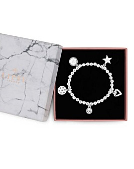 Lipsy Silver Plated Charm Bracelet