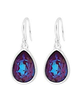 Jon Richard Swarovski Burgundy Earrings