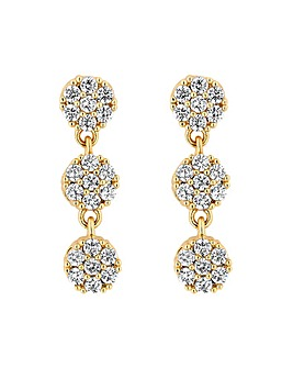Alan Hannah Devoted Gold 3 Drop Earrings