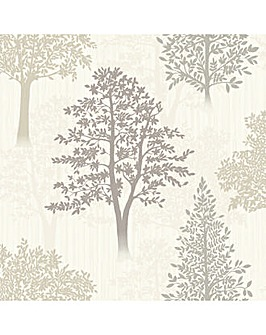 Diamond Tree Natural Wallpaper