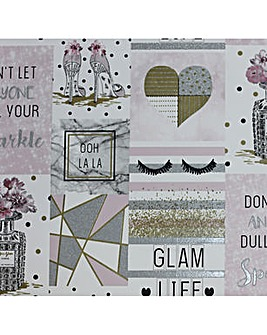 Glam Life Pink Wallpaper