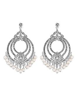 MOOD Silver Plated Jangle Drop Earrings