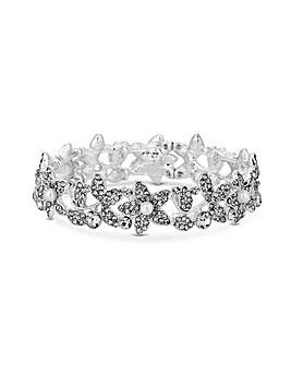 MOOD Crystal Flower Stretch Bracelet