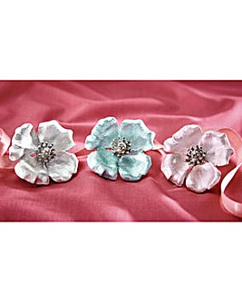 Flower Brooches Set of 3