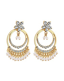 MOOD Gold Plated Jangle Drop Earrings