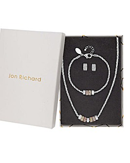 Jon Richard Crystal Necklace And Earring