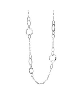 MOOD Silver Plated Circle Rope Necklace