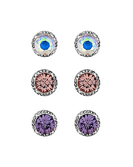 MOOD Pastel Colour Earrings Pack Of 3