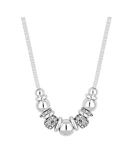 MOOD Silver Links On Mesh Necklace