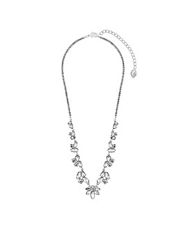 Silver Plated Mix Shape Crystal Allway Necklace