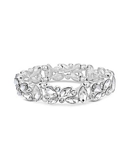 Lipsy Silver Plated Leaf Bracelet